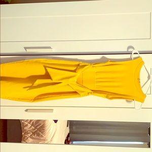 Tied To The Drama Ribbed Midi Dress